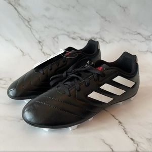 Adidas kids black/white Goletto VII soccer cleats
